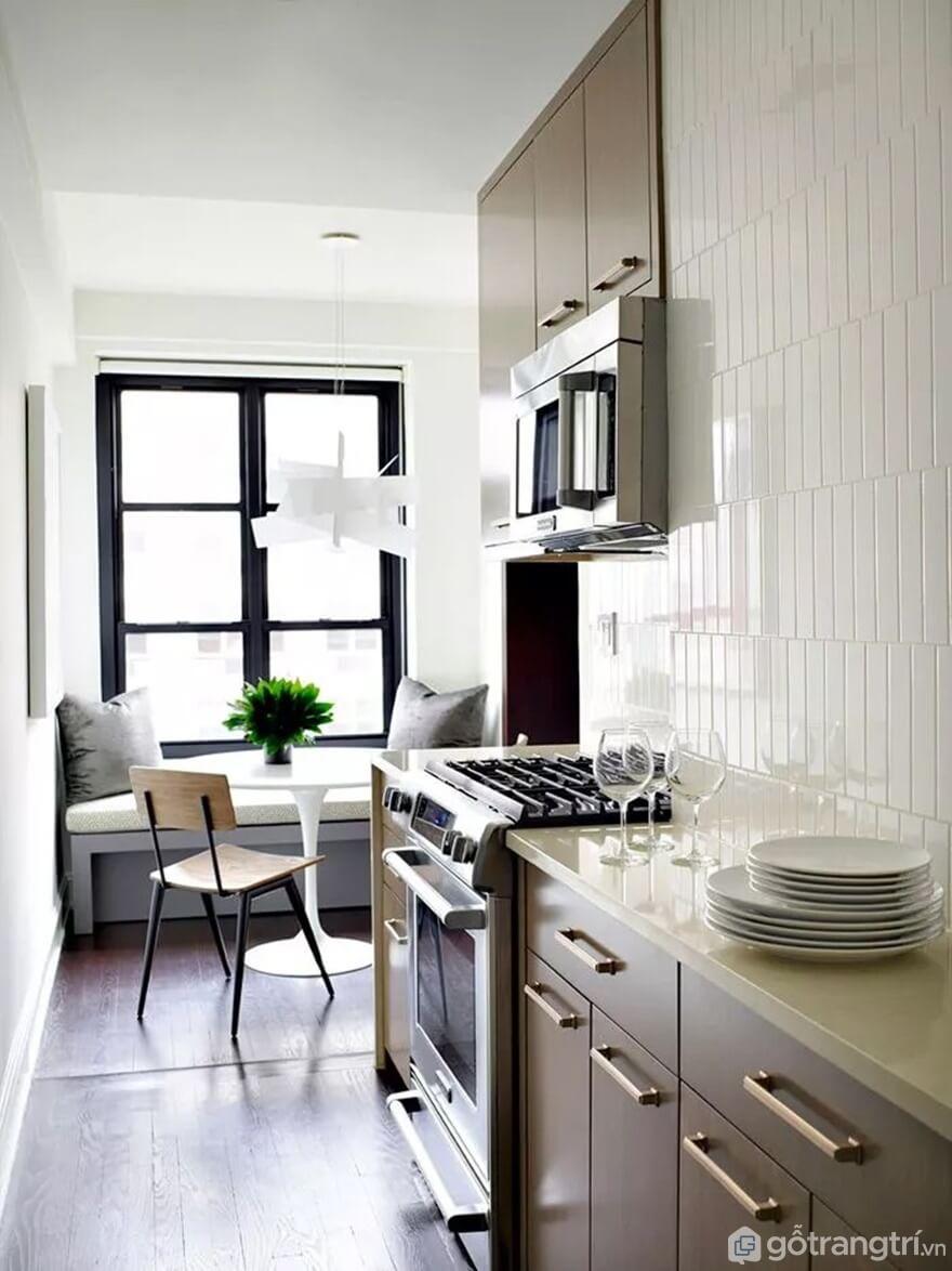 Mẫu 15: Nhà bếp nhỏ đẹp - Ảnh: Internet
