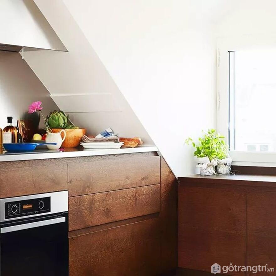 Mẫu 17: Nhà bếp nhỏ đẹp - Ảnh: Internet