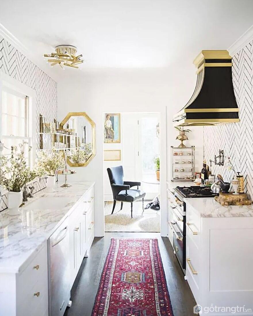 Mẫu 20: Nhà bếp nhỏ đẹp - Ảnh: Internet