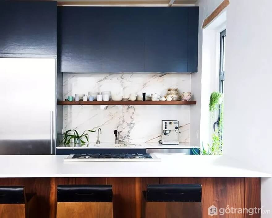 Mẫu 22: Nhà bếp nhỏ đẹp - Ảnh: Internet