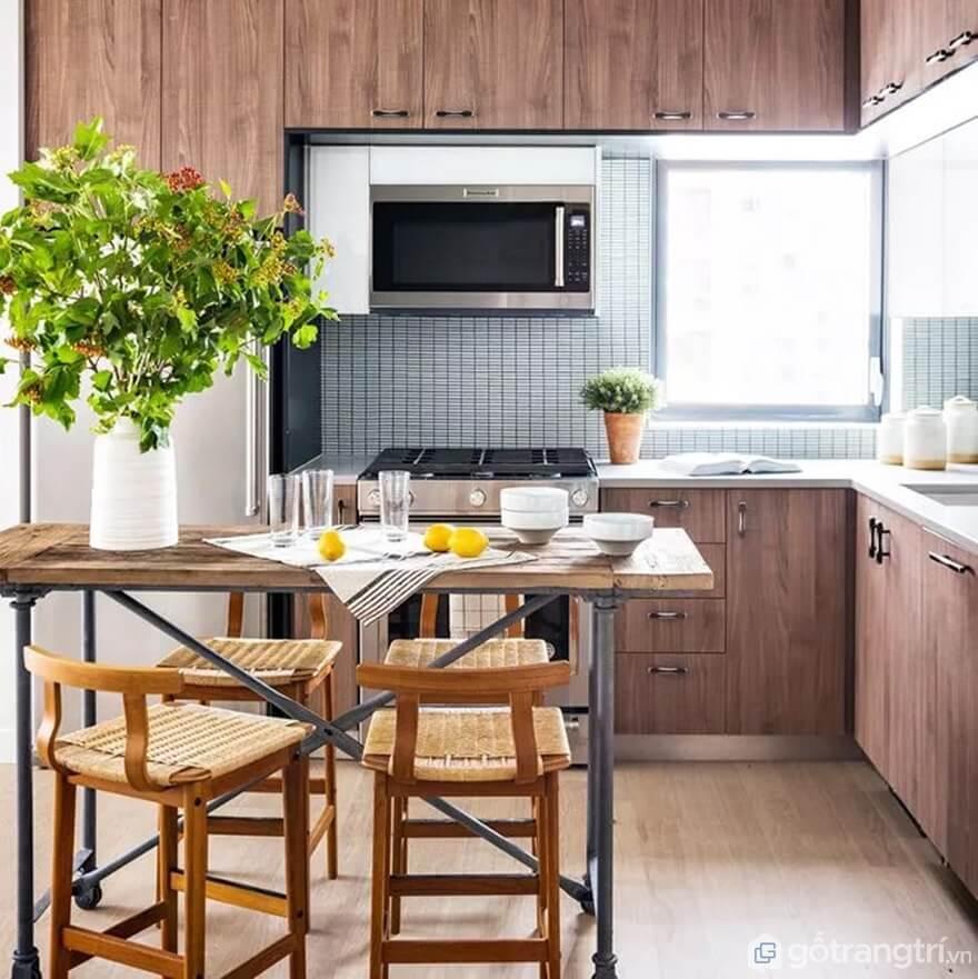 Mẫu 23: Nhà bếp nhỏ đẹp - Ảnh: Internet