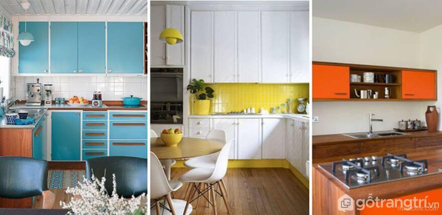 Sử dụng màu ngọc, trắng, càm giúp căn bếp trở nên sáng rộng hơn - Ảnh: Internet