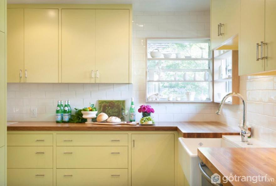 Màu vàng bơ nhẹ nhàng tạo sự ấm cúng, hiện đại cho căn bếp - Ảnh: Internet