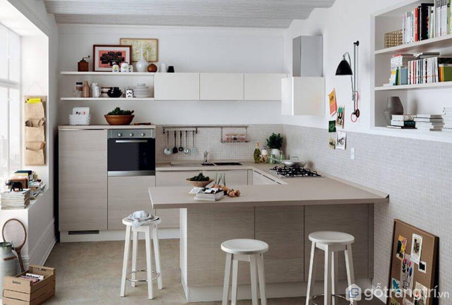 Đưa không gian mở vào trong căn bếp - Ảnh: Internet