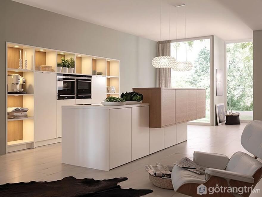 Mẫu 01: Nội thất phòng bếp phong cách tối giản - Ảnh: Internet