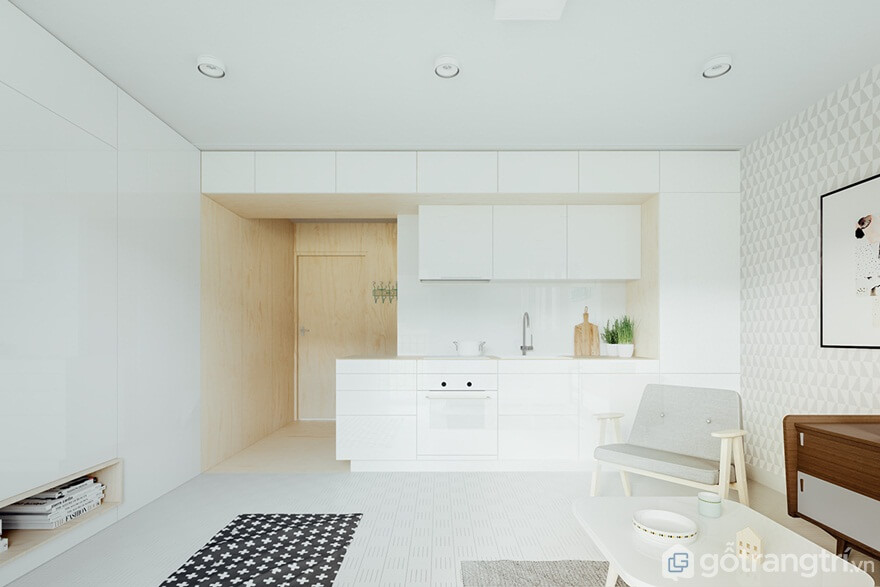Mẫu 05: Căn bếp này thiết kế rất đơn giản - Ảnh: Internet