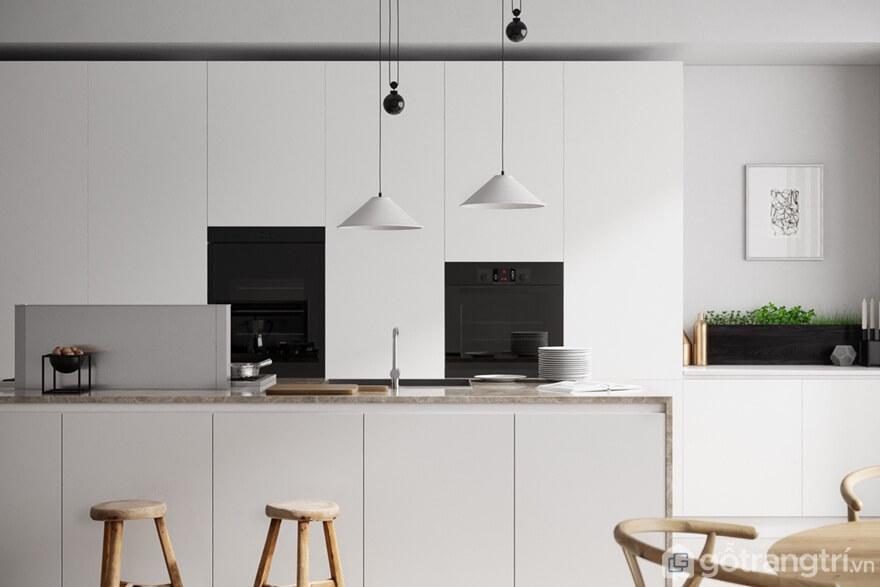 Mẫu 06: Những gian bếp tối giản được kết hợp với màu trắng – đen sẽ mang đến không gian sống hiện đại - Ảnh: Internet
