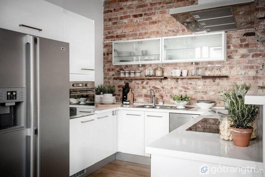 Mẫu 05: Nội thất nhà bếp theo phong cách Bắc Âu đưa thiên nhiên vào nhà - Ảnh: Internet