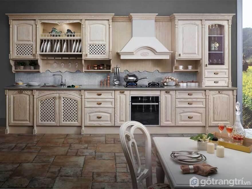 Mẫu 02: Mẫu phòng ăn nhà bếp theo phong cách cổ điển sang trọng - Ảnh: Internet