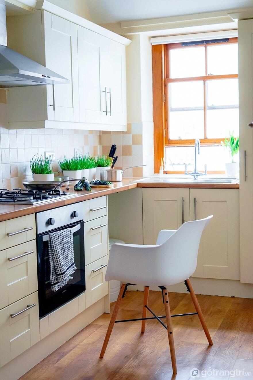 Mẫu 07: Phòng bếp gần gũi với thiên nhiên - Ảnh: Internet