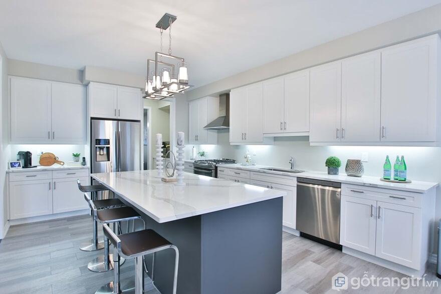 Mẫu 10: Phòng bếp đẹp hiện đại - Ảnh: Internet