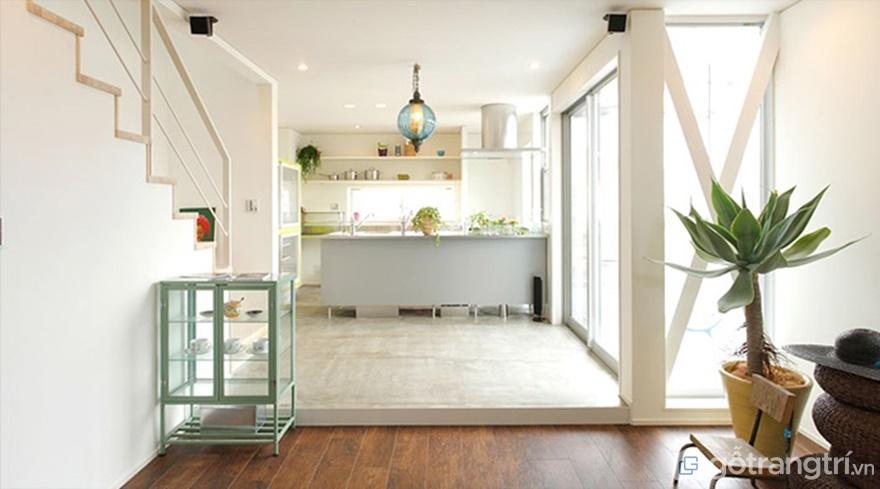 Phòng bếp sử dụng tông màu sáng - Ảnh: Internet