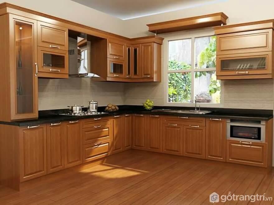 Tủ bếp bằng gỗ - Ảnh: Internet