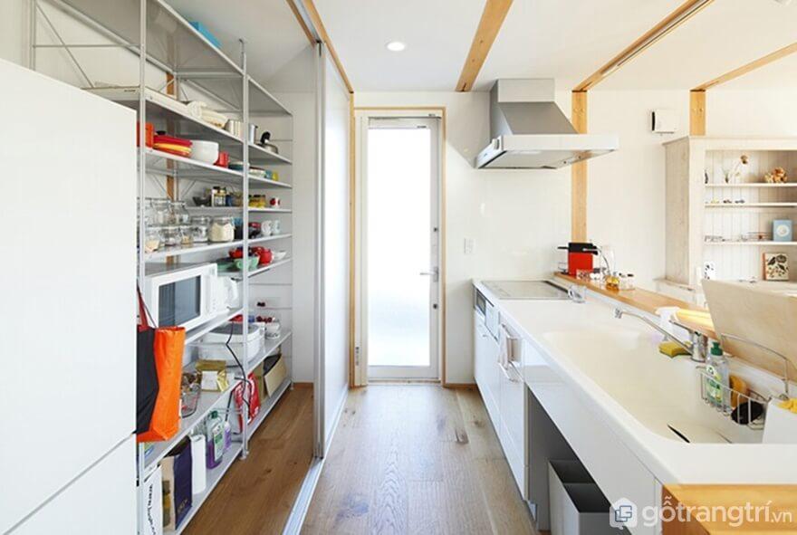 Phòng bếp sử dụng gam màu trung tính - Ảnh: Internet