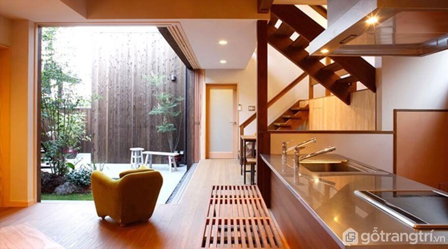 Phòng bếp đẹp hiện đại gần gũi với thiên nhiên - Ảnh: Internet
