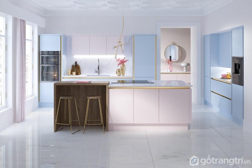 Mẫu 01: Thiết kế phòng bếp theo phong cách đơn giản - Ảnh: Internet