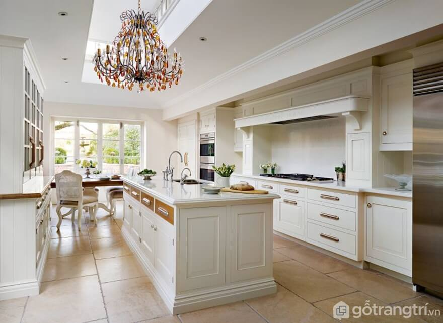 Thiết kế phòng bếp theo phong cách tân cổ điển - Ảnh: Internet