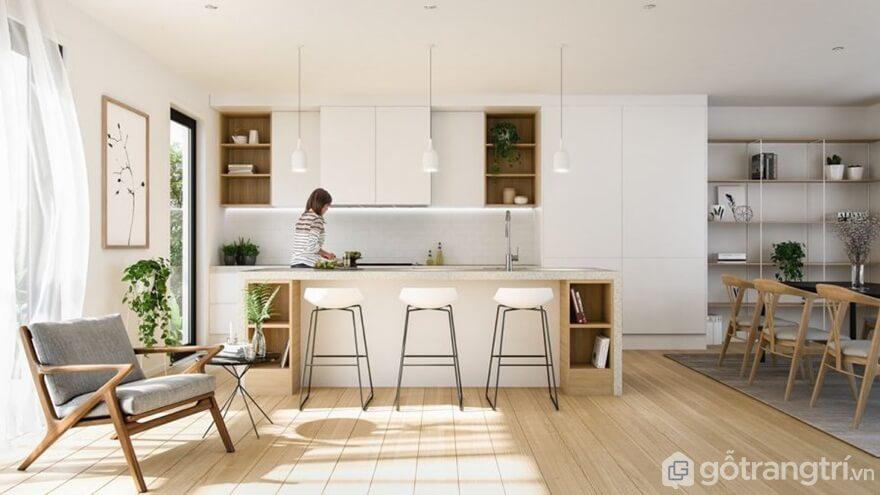Thiết kế phòng bếp theo phong cách cổ điển - Ảnh: Internet