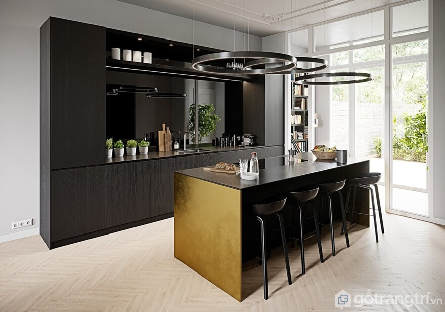Mẫu 03: Phòng bếp có quầy bar - Ảnh: Internet