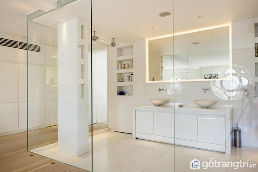 Vách ngăn phòng bếp bằng kính mẫu 01 - Ảnh: Internet