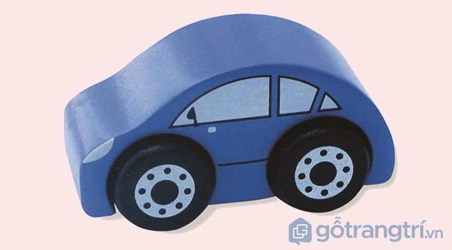 Do-choi-bang-go-mo-hinh-xe-taxi-mau-xanh-duong-GHB-809