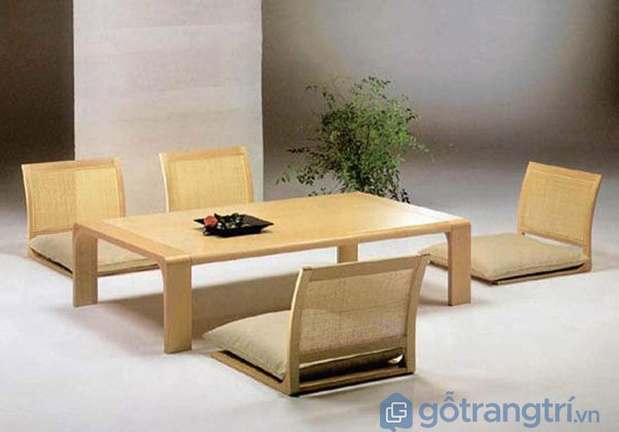 bộ bàn ăn kiểu Nhật
