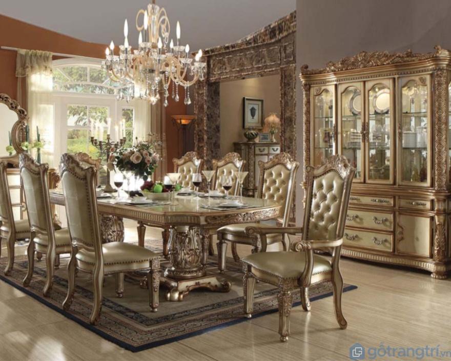 Thiết kế bàn ăn tân cổ kiểu hoàng gia châu Âu đẳng cấp - Ảnh: Internet