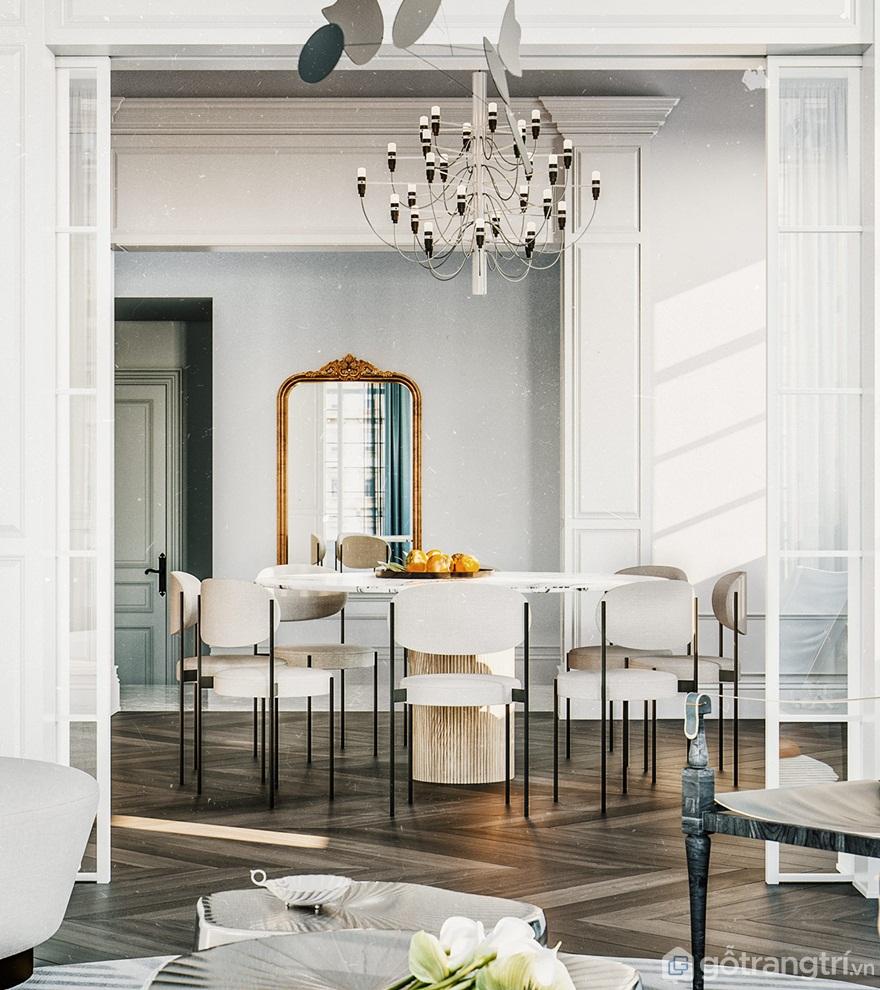 Bộ bàn ăn tân cổ điển 6 ghế phù hợp với gia đình từ 4 - 6 thành viên - Ảnh: Internet