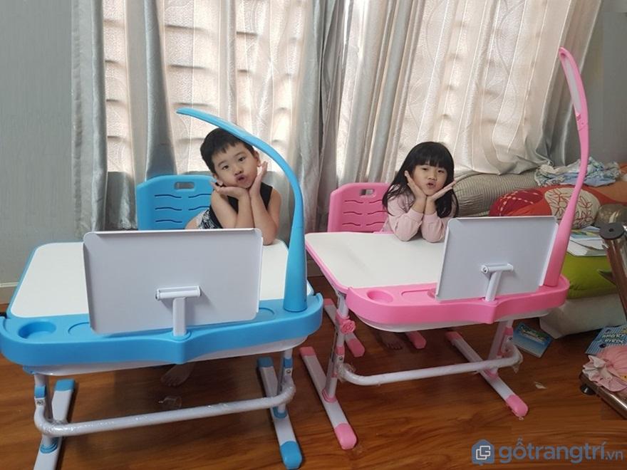 Chọn bàn học cho bé 3 tuổi, 4 tuổi, 5 tuổi: Hình dáng, kích thước - Ảnh: Internet