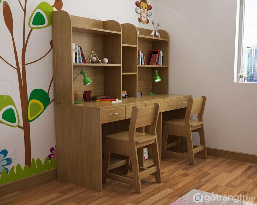 Kích thước bàn học đôi cho trẻ em - Ảnh: Internet