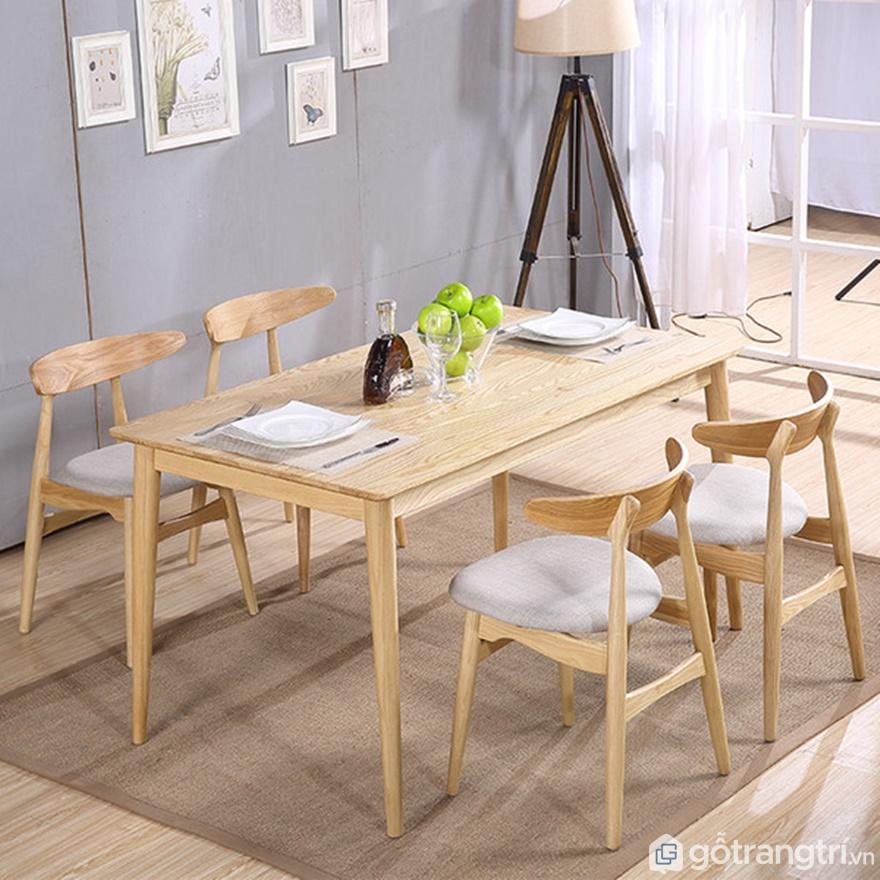 Thiết kế bàn ăn 4 ghế nhỏ xinh - Ảnh: Internet