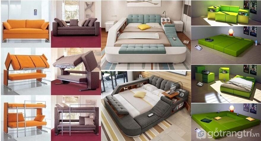 Giường đa năng - Sản phẩm nội thất sáng tạo cho mọi không gian - Ảnh: Internet