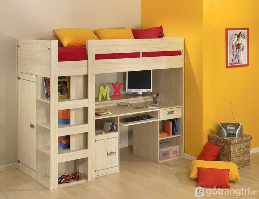 Giường gấp đa năng tích hợp với bàn học tập - Ảnh: Internet
