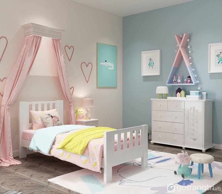 Kích thước giường đơn của trẻ em - Ảnh: Internet