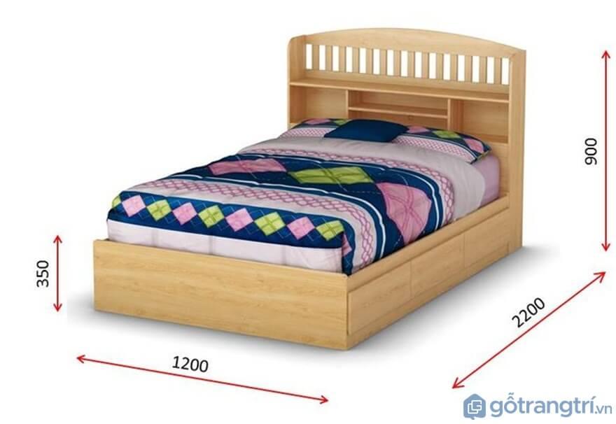 Kích thước giường đơn tiêu chuẩn - Ảnh: Internet