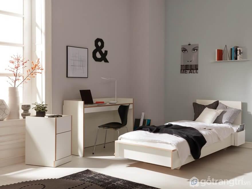 Giường ngủ đơn mẫu 01 - Ảnh: Internet