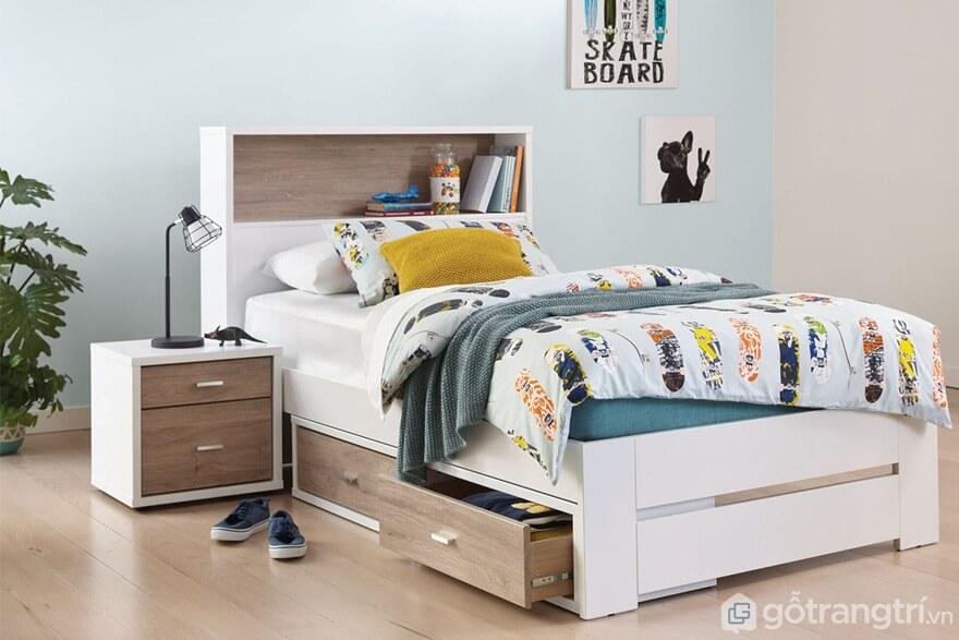 Giường ngủ đơn mẫu 02 - Ảnh: Internet
