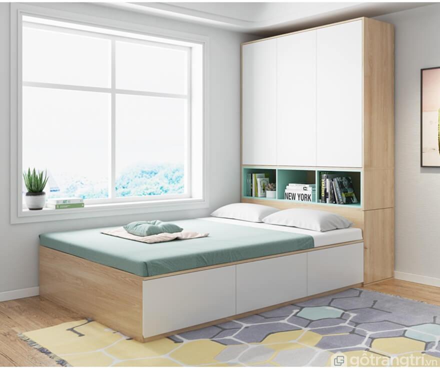 Thiết kế giường ngủ đơn đa năng tích hợp tủ quần áo - Ảnh: Internet