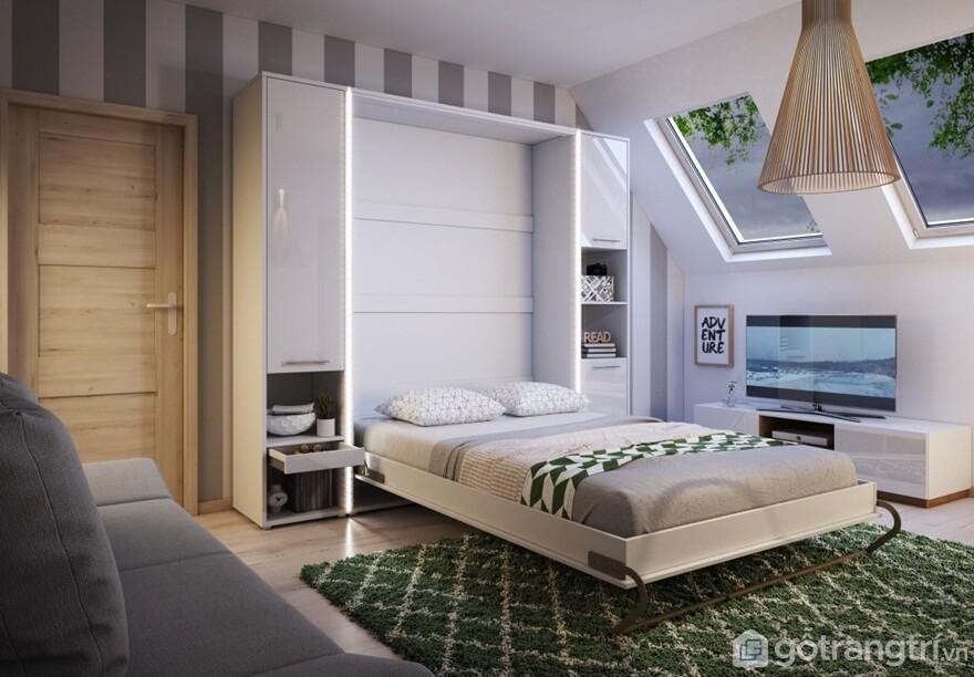 Giường gấp bằng gỗ mẫu 03 - Ảnh: Internet
