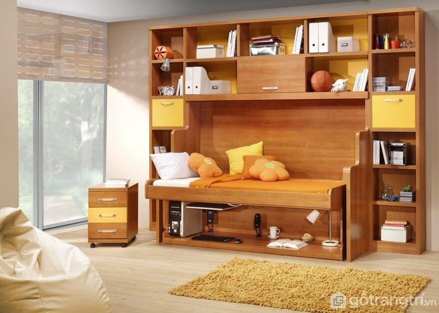 Giường gấp bằng gỗ tự nhiên - Ảnh: Internet
