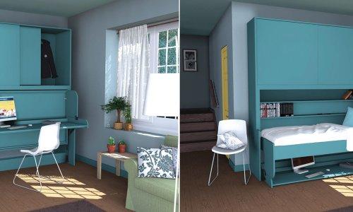 Giường gấp gỗ - Nội thất thông minh cho phòng ngủ nhỏ