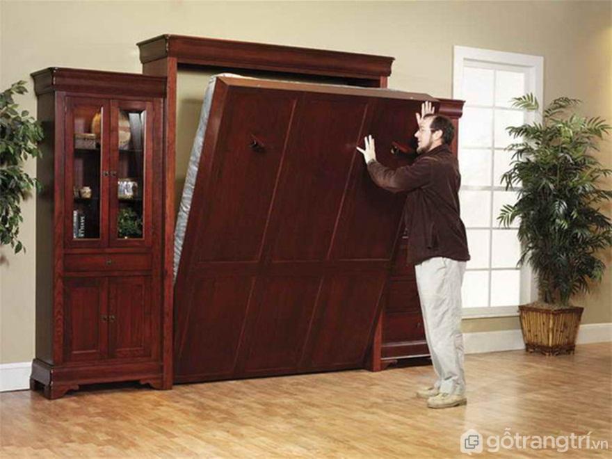 Giường gấp gỗ đa năng - Ảnh: Internet