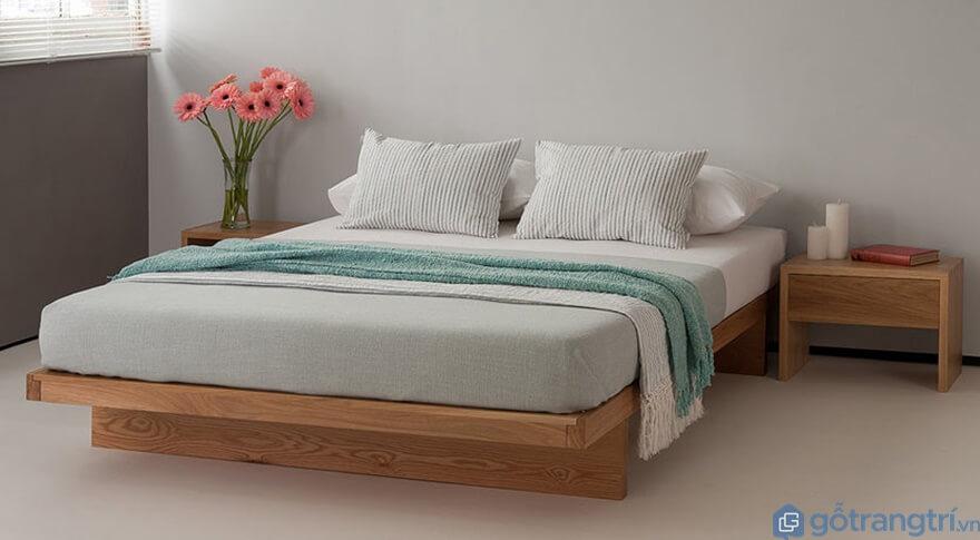 Mẫu giường ngủ kiểu Nhất đẹp và đơn giản - Ảnh: Internet
