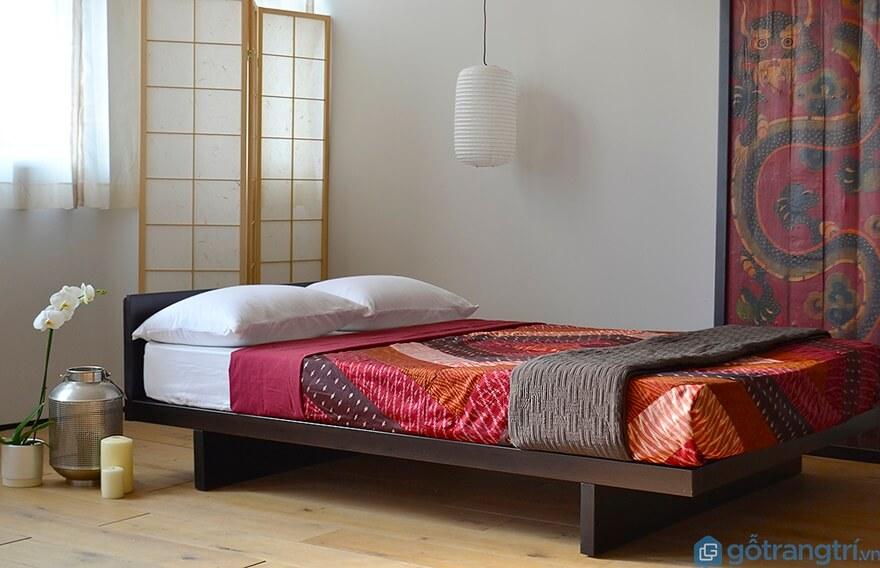 Mẫu giường ngủ kiểu Nhất đẹp và đơn giản 02 - Ảnh: Internet