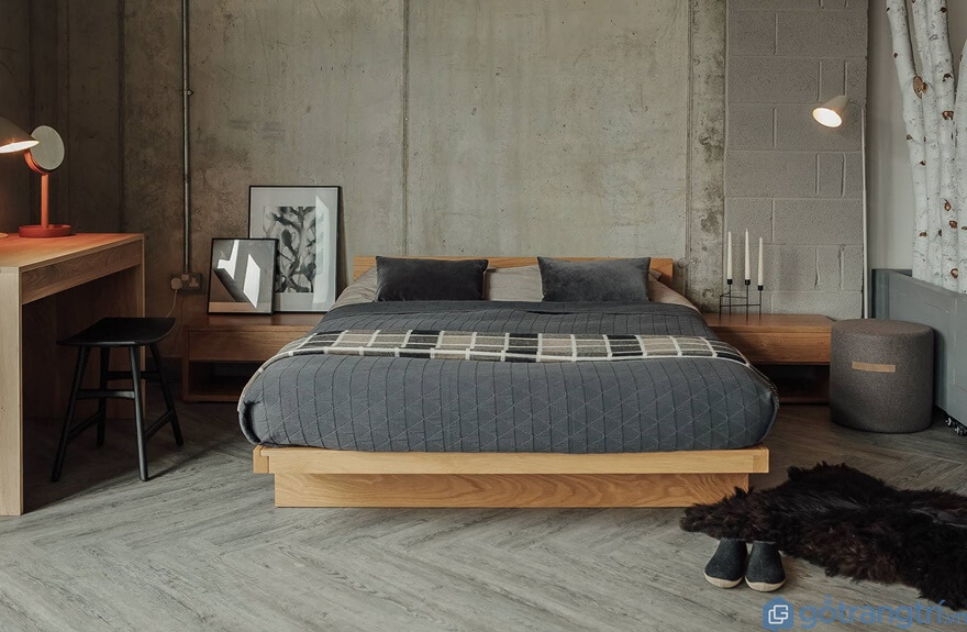 Mẫu giường ngủ kiểu Nhất đẹp và đơn giản 04 - Ảnh: Internet