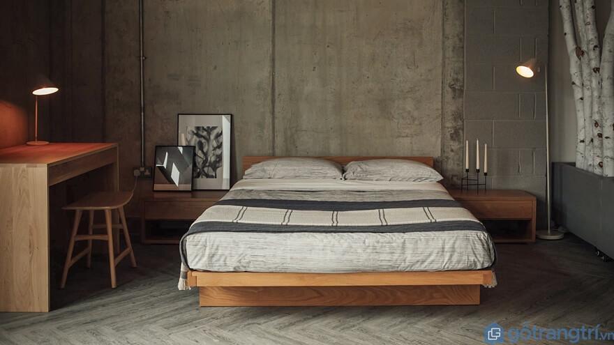Mẫu giường ngủ kiểu Nhất đẹp và đơn giản 06 - Ảnh: Internet