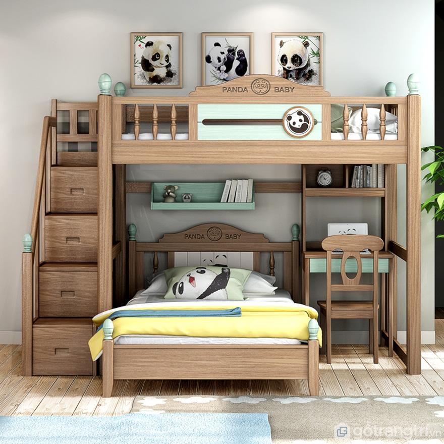 Mẫu giường đẹpcó bàn học - Ảnh: Internet