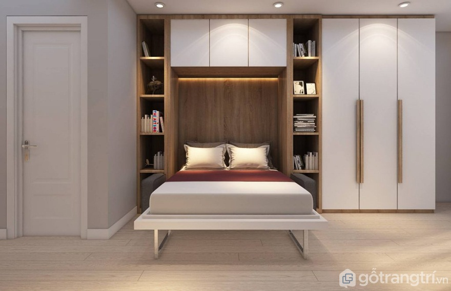 Mẫu giường đẹpkết hợp tủ quần áo - Ảnh: Internet
