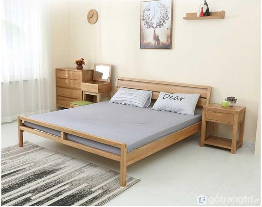 Hé mở mẫu giường ngủ đơn giản đẹp dịu dàng mà không chói lóa - Ảnh: Internet