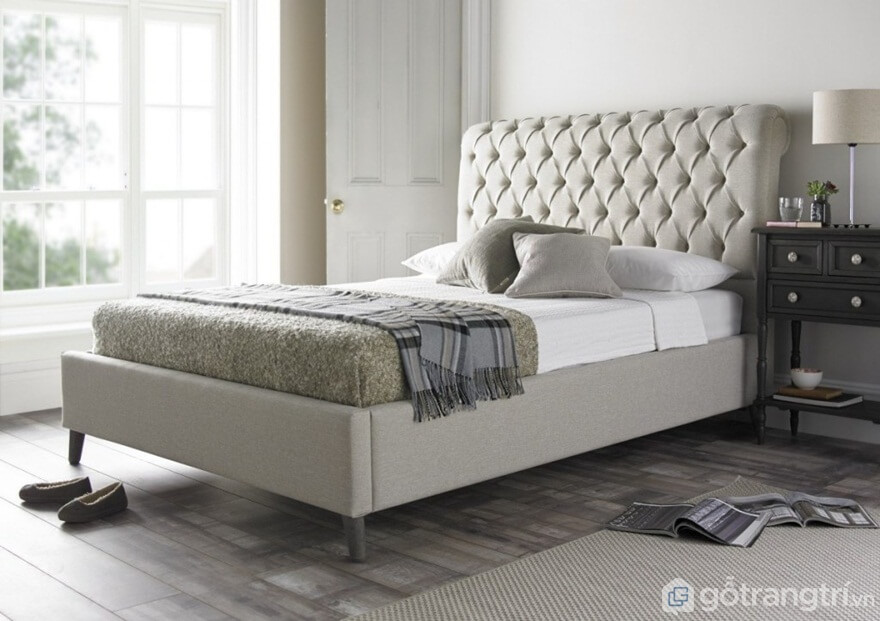 Giường ngủ kiểu Hàn Quốc làm bằng nỉ - Ảnh: Internet